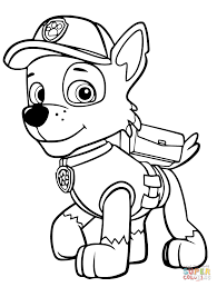 Click The Paw Patrol Rocky Coloring Pages To View Printable Version Or Color It Online Compatible With IPad And Android Tablets