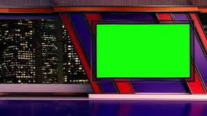 News TV Studio Set 251 Virtual Green Screen Background Loop
