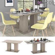 vicco esstisch dix 140 180 cm sonoma eiche esszimmertisch ausziehbar küche