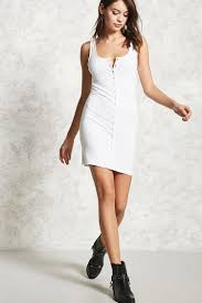 snap button tank dress forever 21 2000106022