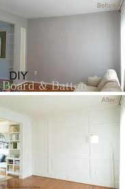 Living Room Wall With Board And Batten Peek Of The Dining