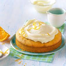 orangenkuchen mit frischkäsehaube