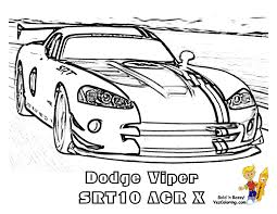Race Car Printable Dodge Viper SRT 10 ACRX At YesColoring