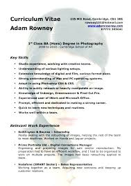 Freelance Photography Resume Sample Examples Photographer Template