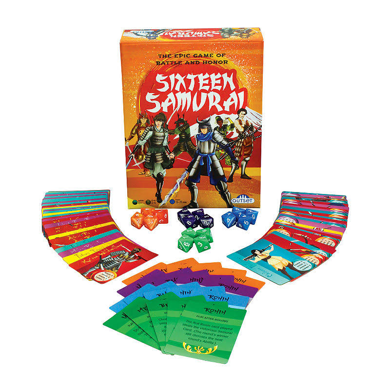 Outset Media Cobble Hill The Epic Game of Battle and Honor Sixteen Samurai Board Game