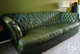 Green Leather Couch Tufted Sofa 7 Dark Sectional