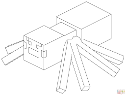 Click The Minecraft Spider Coloring Pages