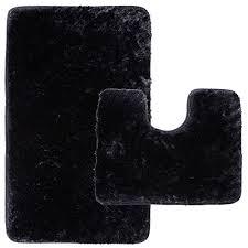 bath mats badteppich badematte langflor 55x65cm schwarz