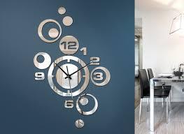 moderne wanduhr spiegel design w842