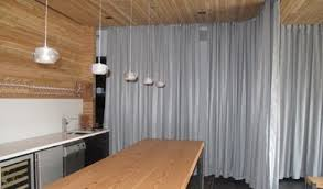 canvas curtains with overhead tracks ceiling mounted curtain in