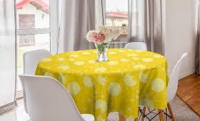 abakuhaus tischdecke kreis tischdecke abdeckung für esszimmer küche dekoration gelb und weiß zusammenfassung löwenzahn kaufen otto