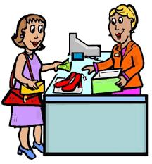 Clothes Seller Clipart