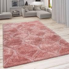 shaggy teppich hochflor geometrisches muster