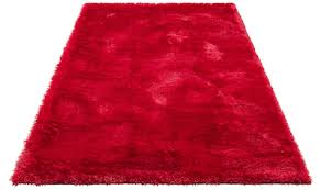hochflor teppich rot baur