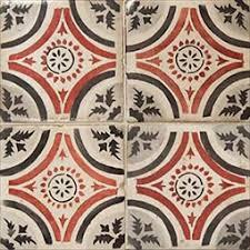 la terre black and white deco ceramic tiles square tiles in