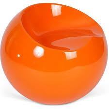chaise boule fauteuil boule orange brillant inspiré finn lestendances fr