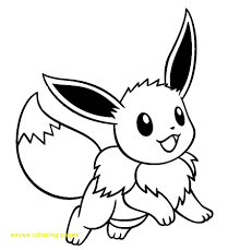 Pokemon Eevee Coloring Pages Awesome Page