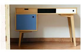 bureau stylé bureau scandinave en chêne hopfab