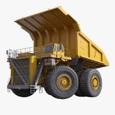 100 Haul Truck Generic Yellow Rigged 3D Model