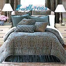 J Queen New York Marquis Curtains by Bedding Brown And Blue Jacquard And Chenille Are Accented