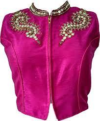 VKCreation Pink Hand Work Designer Saree Blouse