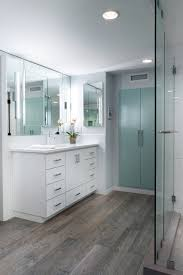 wood grain ceramic tile bathroom contemporary with bath tub