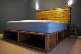 Rustic Bed Frame Plans Style