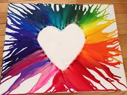 Finished Crayon Heart Art