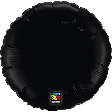 Qualatex Round Shaped Foil Balloon - Black, 18""