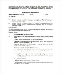 7 Asset Agreement Form Samples Free Sample Example Format Download