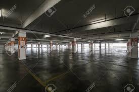 Big Parking Area In Basement Stock Photo