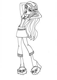 Ghoulia Yelps Free Printable Coloring Pages