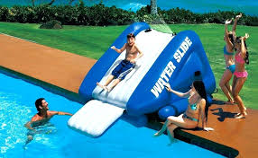 Inflatable Pool Slides For Inground Pools Blow Up Rent Swimming