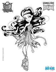 Monster High Coloring Pages Online 17 MONSTER HIGH