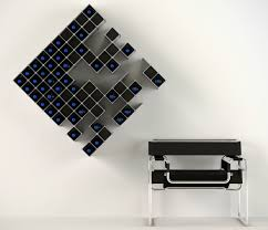 Nucleus modular wine rack connects like puzzle pieces
