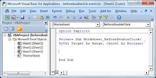 Worksheet BeforeDoubleClick Event In Excel VBA