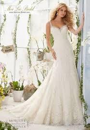 wedding dress 2811 crystal beaded edging meets alencon lace
