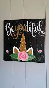 Diy Canvas Art Tumblr Best Paintings Ideas On Quote Unicorn Painting