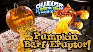 Puking Pumpkin Carving Ideas by Pumpkin Barf Eruptor Skylanders Swap Force Pumpkin Carving