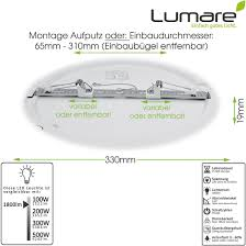 lumare led deckenleuchte 24w flach rund 1800lm 330mm ip44 deckenle für wohnzimmer badezimmer küche