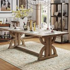 Shop Paloma Salvaged Reclaimed Pine Wood Rectangular Trestle Table By INSPIRE Q Artisan