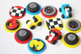100 Cars And Trucks And Things That Go Race Car Cupcake Topper Set Transportation Etsy