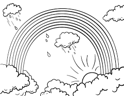 Fancy Ideas Coloring Page Of A Rainbow Printable Sheet