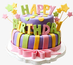Color birthday cake Color Birthday Cake Free PNG Image