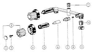 PEERLESS BATH VALVES Parts Model 9741