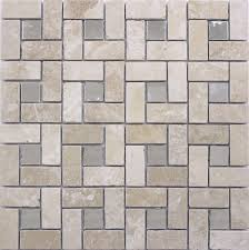 Mirror Tiles 12x12 Beveled Edge by Mirror Mosaic Tiles Mosaic Tiles Flowers Pattern Beige Mother Of