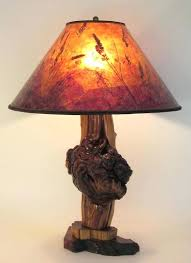 Idea Rustic Lamp Shade For Cedar Burl Sunset Mica By Sue 61 Tagged