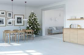 moderne wohnidee dezente weihnachtsdeko in der wohnung
