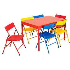 safety 1st children s 7 piece folding table and chairs set