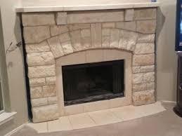 Chopped Cream Limestone Fireplace Mantel Traditional Dallas